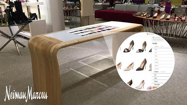 Nieman Marcus instore digital shopping table